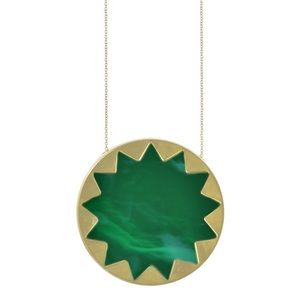House of Harlow Emerald💚Green Sunburst☀️ Necklace